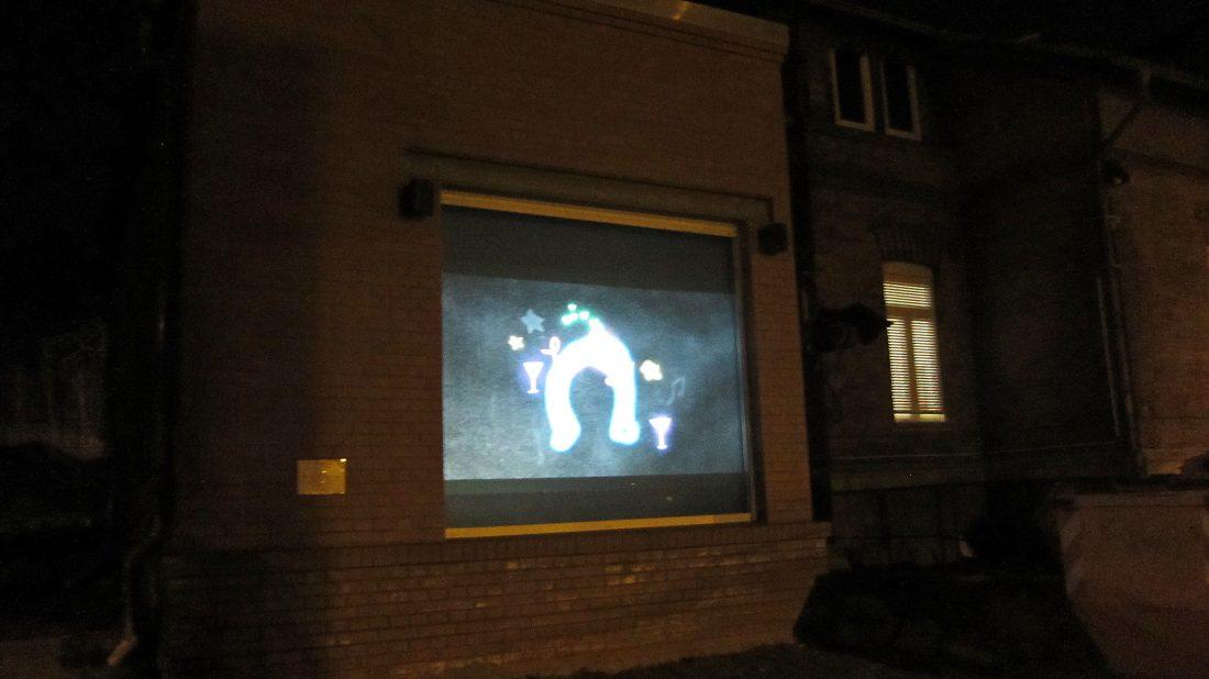 Videoprojekt im Schleifweg | © Louisa Engel